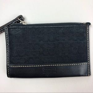 Coach Classic Card Holder Case w/ Zip Coin Section